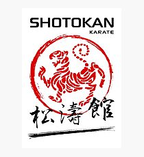 Shotokan Karate Tiger Fotodruck