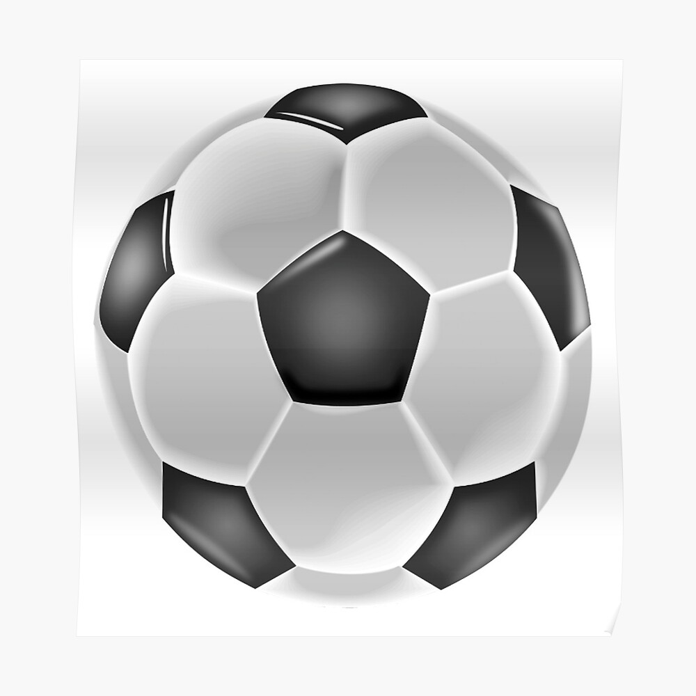 Soccer soccer ball ball football sport black and white poster by tomsredbubble redbubble