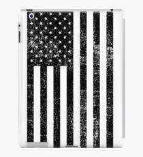 Distressed American Flag - Black iPad Case/Skin