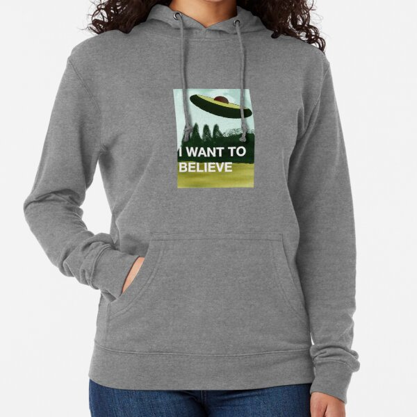 I want to belive (avocado)  Lightweight Hoodie