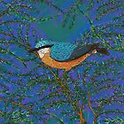 Nuthatch and Fir by lottibrown