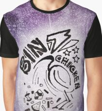 Bin Chicken Metal Style - Colour Graphic T-Shirt