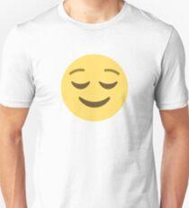 Quietly Happy (Chuffed) Emoji Face  Unisex T-Shirt