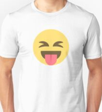 Crazy Tongue Out Emoji Face  T-Shirt
