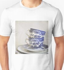 Blue and white stacked china. T-Shirt