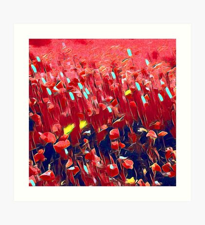 Magical poppy field Art Print