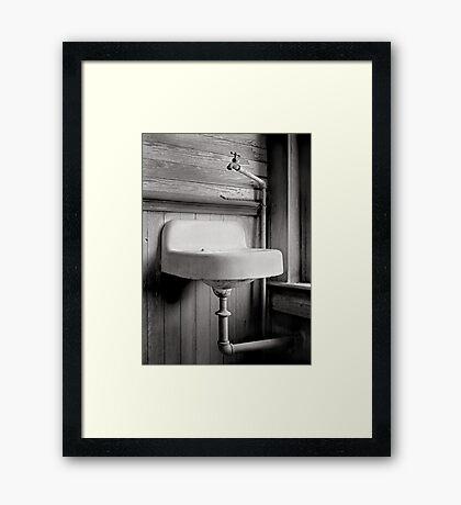 no vanity Framed Print