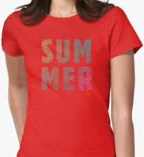 SUM MER Womens Fitted T-Shirt