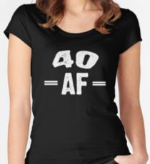 40 AF Women's Fitted Scoop T-Shirt