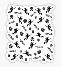 Black Witches and Pentacles Sticker
