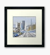Winter on Woodward Avenue Framed Print