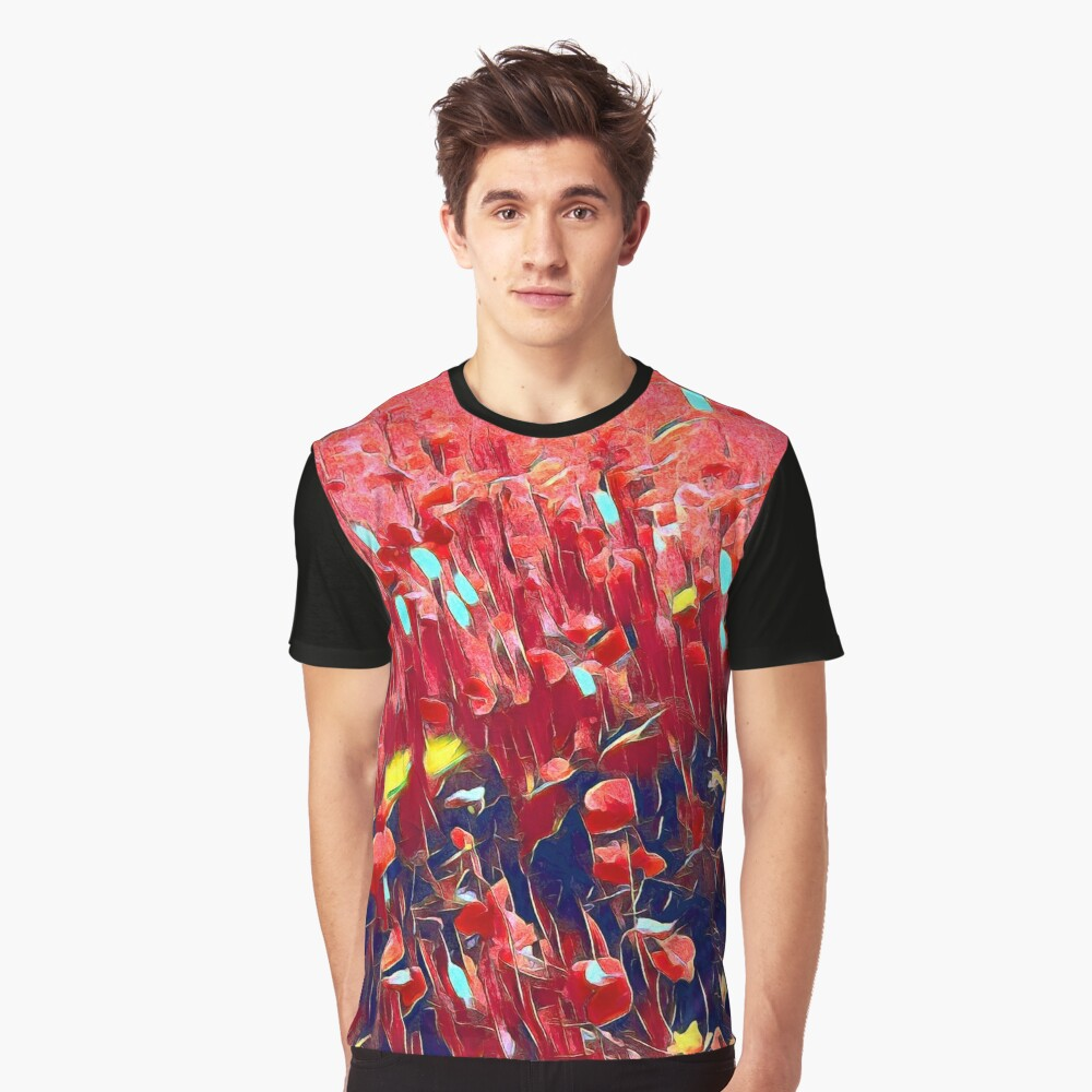Magical poppy field Graphic T-Shirt