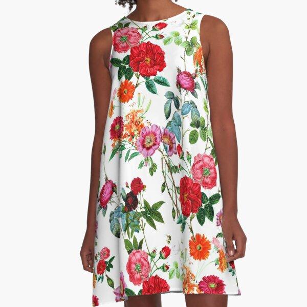 Botanical Pattern A-Line Dress
