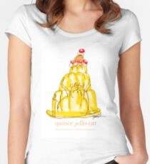 Quince Jello Cat, tony fernandes Women's Fitted Scoop T-Shirt