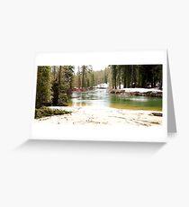 Snow melt  Greeting Card