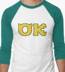 Oozma Kappa - monsters university frat  Men's Baseball ¾ T-Shirt
