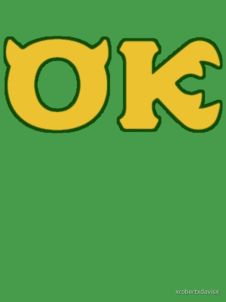 Oozma Kappa Monsters University Frat Kids T Shirt By Xrobertxdavisx Redbubble