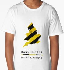 Manchester Bee Map Long T-Shirt