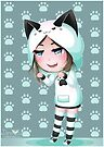DeviCat Chibi GAO - Cat Hoodie - 2017 by devicatoutlet