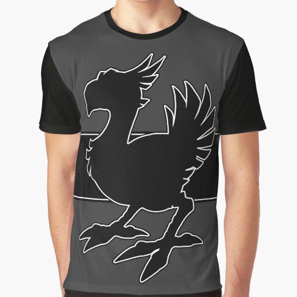 Chocobo Black Graphic T-Shirt