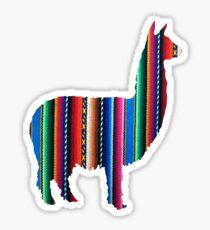 Pegatina Llama Textile Design Inca Ink Original Sudamericano Inca Textile BG