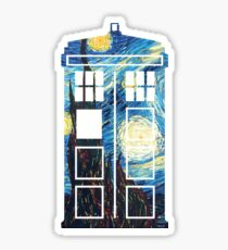 The Doctor's Starry Night Sticker