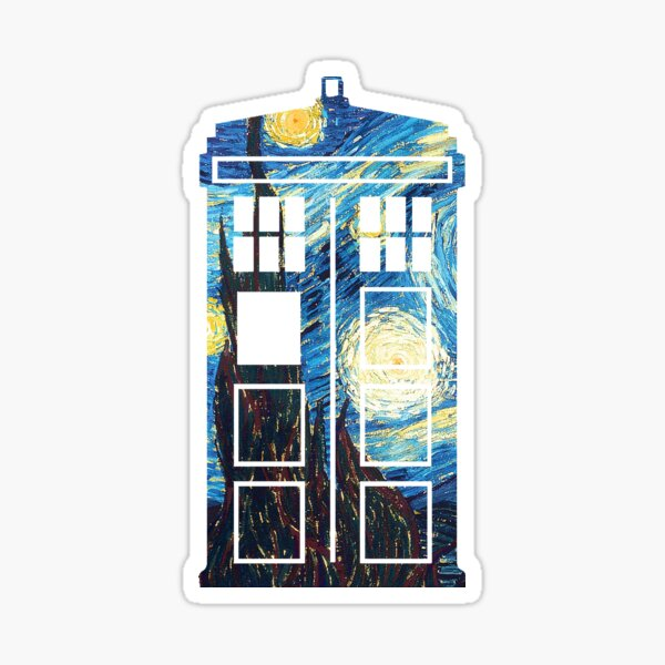 The Doctor's Starry Night Sticker