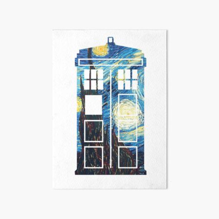 The Doctor's Starry Night Art Board Print