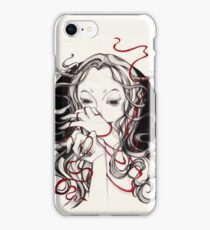 Witch with red string iPhone Case/Skin
