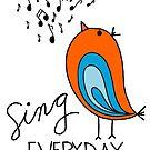 Sing EVERYDAY {orange & turquoise} by designing31
