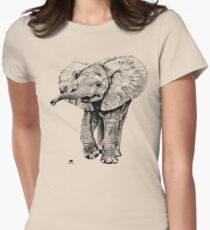 Irresistible Baby Elephant | African Wildlife Womens Fitted T-Shirt