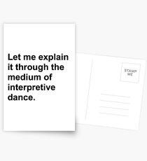 Interpretive dance Postcards