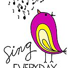 Sing EVERYDAY {pink & yellow} by designing31