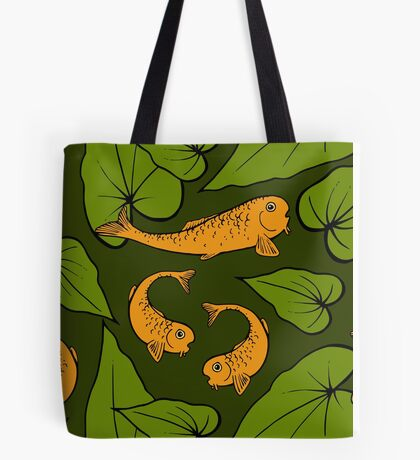 Koi Pond Pattern Tote Bag