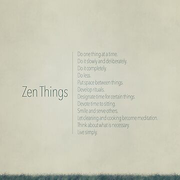 12 Zen Things Poster by nealcampbell