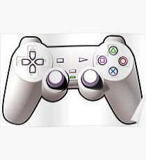 Video Game Inspired Console Gamepad Poster