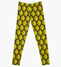 Stylized leaf pattern. Leggings
