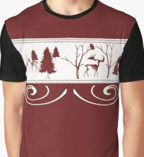 Scary Red Winter Graphic T-Shirt