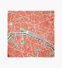 Paris city map classic Scarf