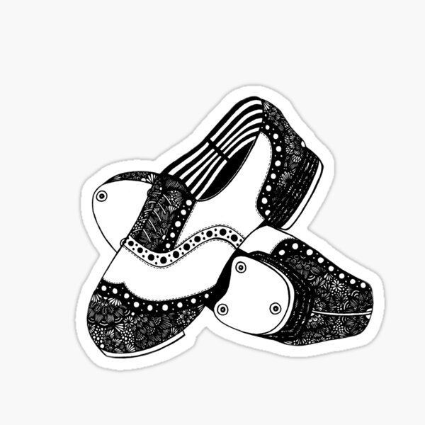 Zentangle Tap Shoes Sticker