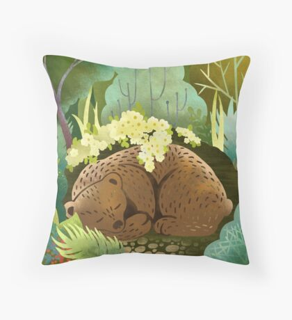 Bear Nest Throw Pillow