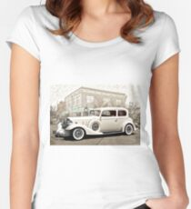 1933 Buick Series 86 Victoria 'Cornerstone' I Women's Fitted Scoop T-Shirt
