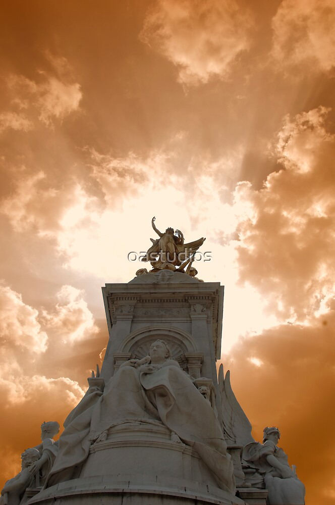 statue with an angry sky by oastudios