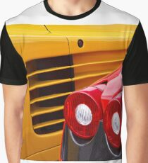Yellow and Red Graphic T-Shirt