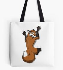 Clinging Red Fox Tote Bag