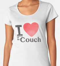 I Heart Sitting On The Couch Women's Premium T-Shirt
