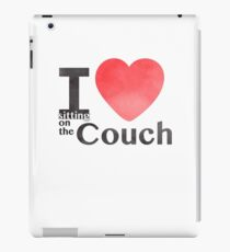 I Heart Sitting On The Couch iPad Case/Skin