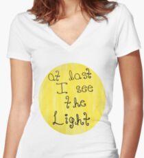 Tangled - I See the Light Women's Fitted V-Neck T-Shirt
