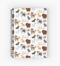 Dog Breeds Pattern Spiral Notebook