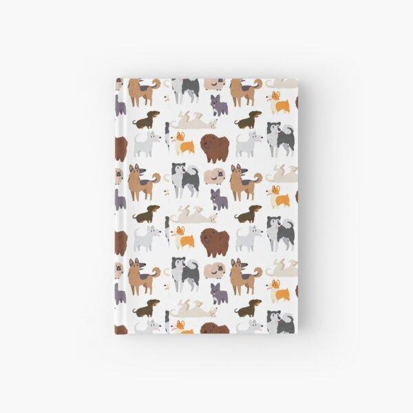 Dog Breeds Pattern Hardcover Journal
